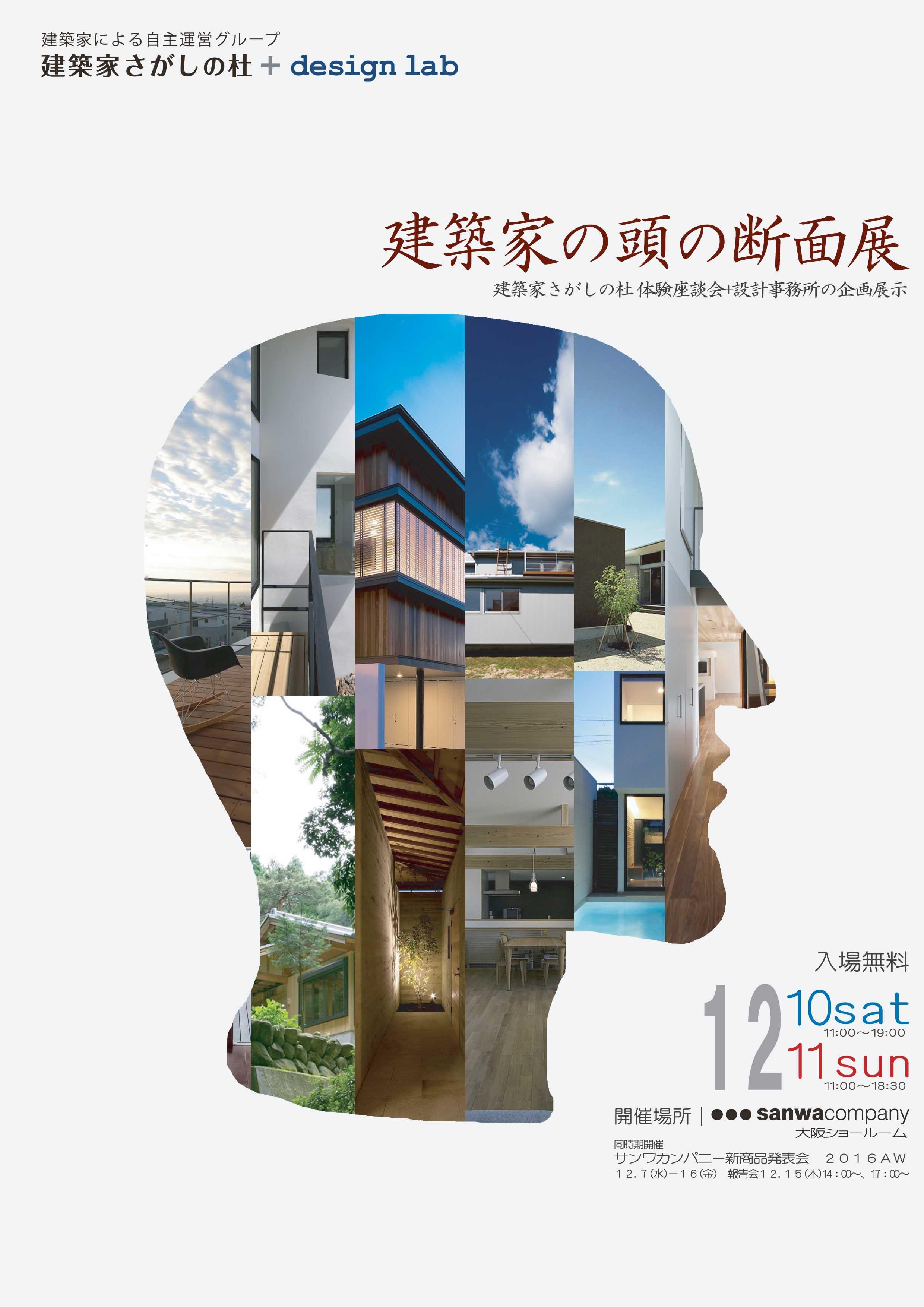建築家の頭の断面展